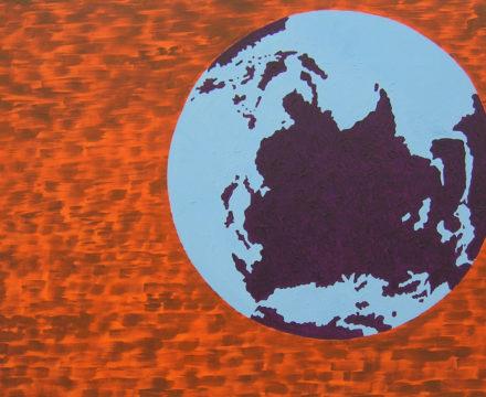Thomas Lawson - 2006 - Untitled, Blue - Brown on Orange