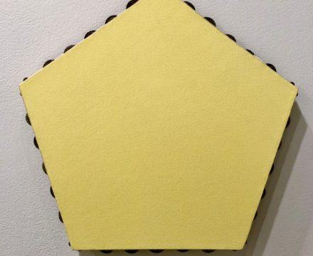 Scoli Acosta Yellow Pentagonal Monochrome (tambourines)
